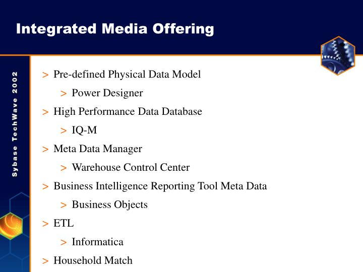 Integrated Media Offering