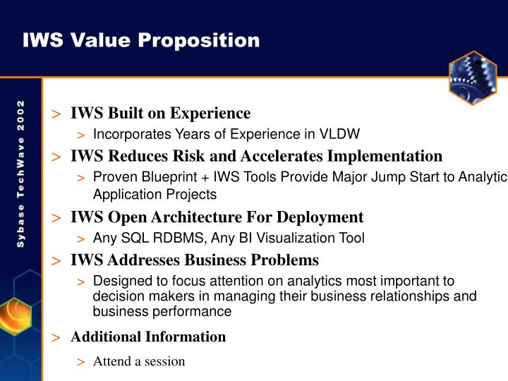 IWS Value Proposition