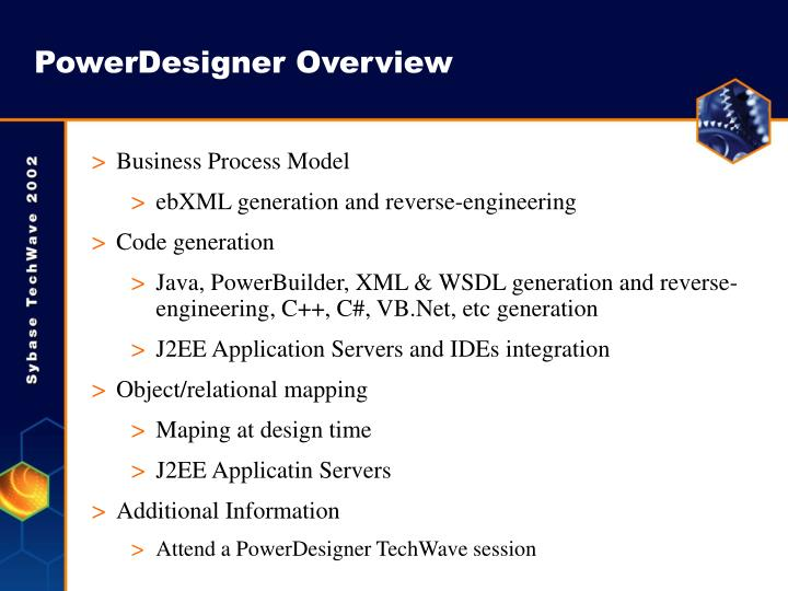 PowerDesigner Overview