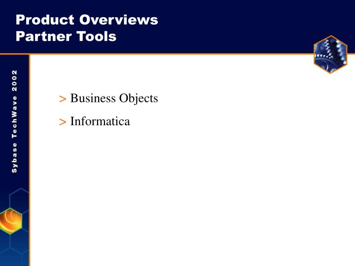 Product Overviews