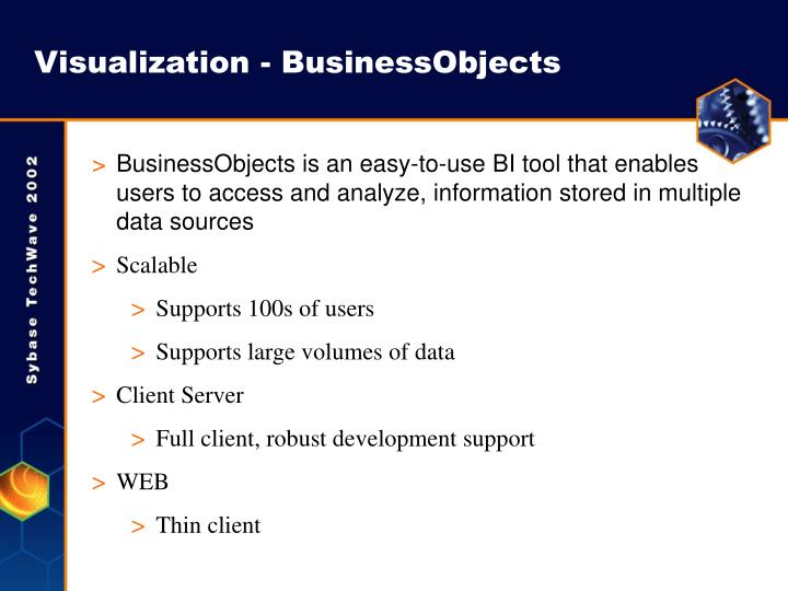 Visualization - BusinessObjects