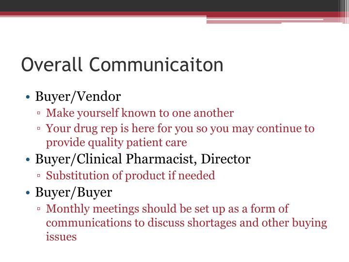 Overall Communicaiton