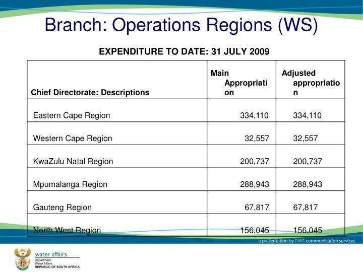 Branch: Operations Regions (WS)