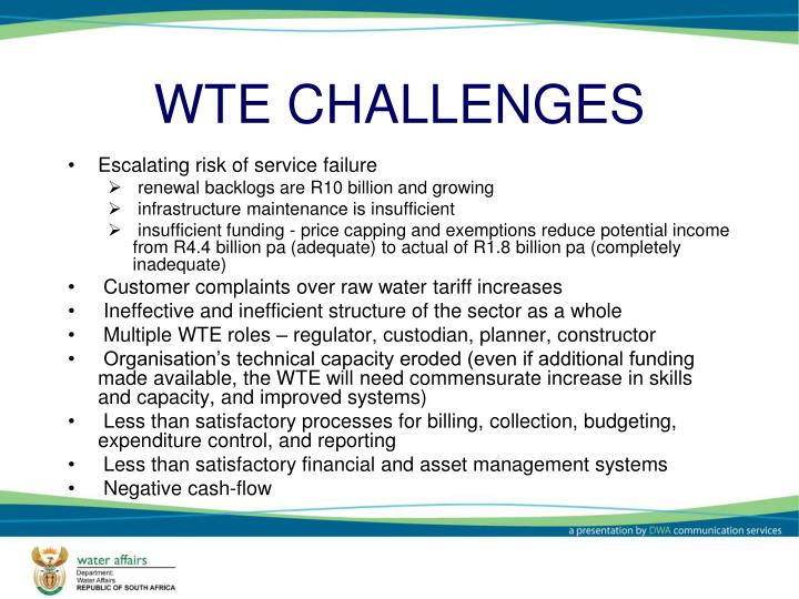 WTE CHALLENGES