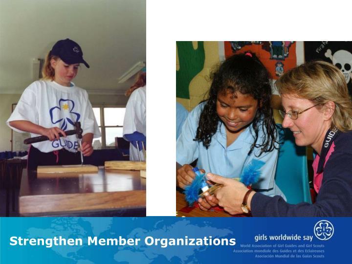 Strengthen Member Organizations