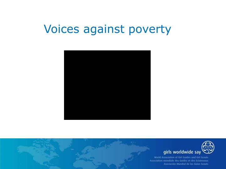 Voices against poverty