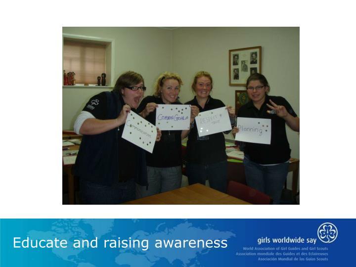 Educate and raising awareness