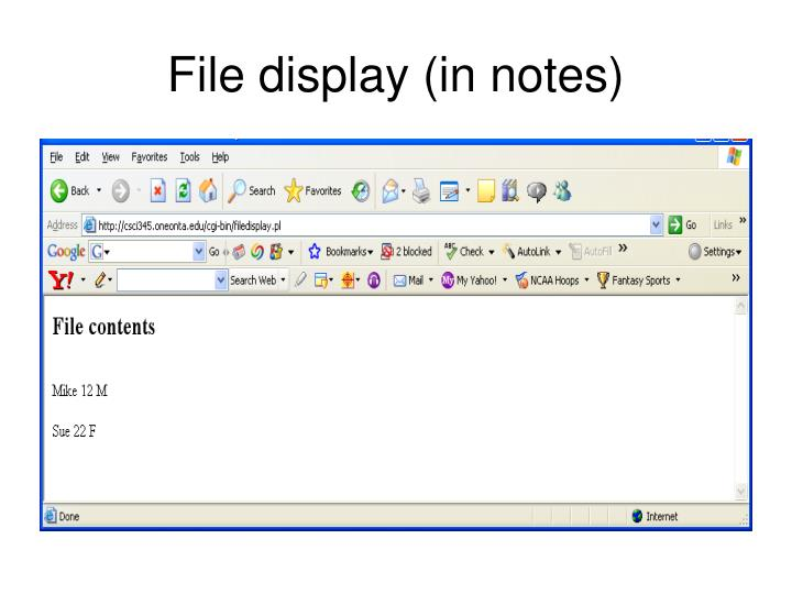 File display (in notes)