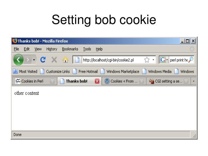 Setting bob cookie