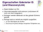 eigenschaften f derierter is und discoverylink