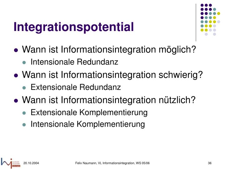 Integrationspotential