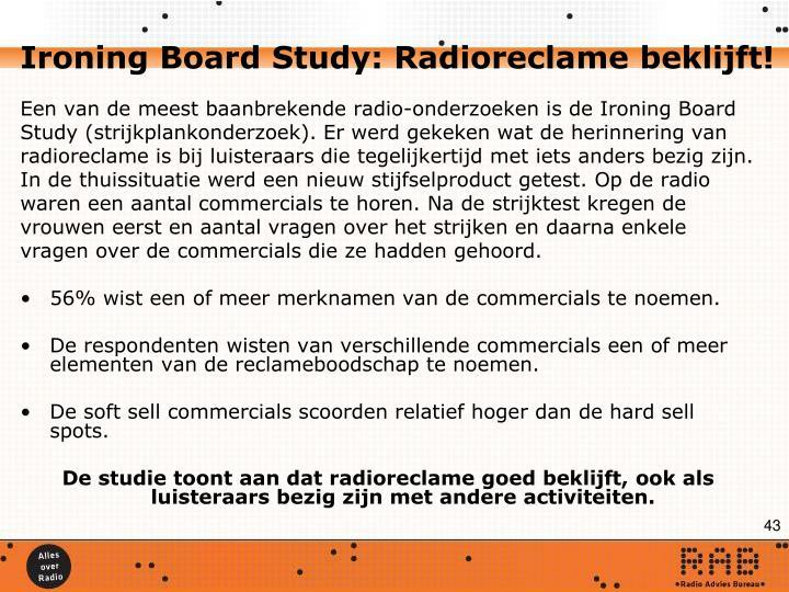 Ironing Board Study: Radioreclame beklijft!
