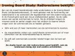 ironing board study radioreclame beklijft
