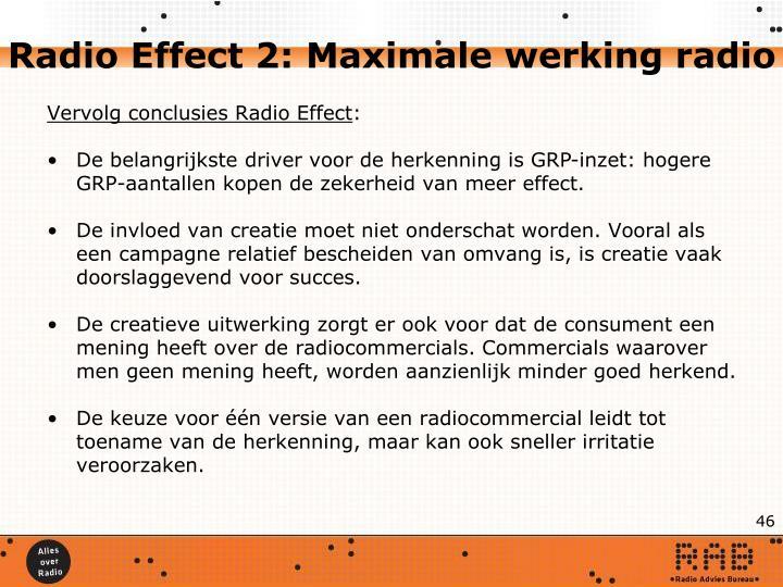 Radio Effect 2: Maximale werking radio