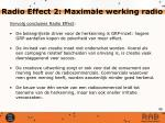 radio effect 2 maximale werking radio
