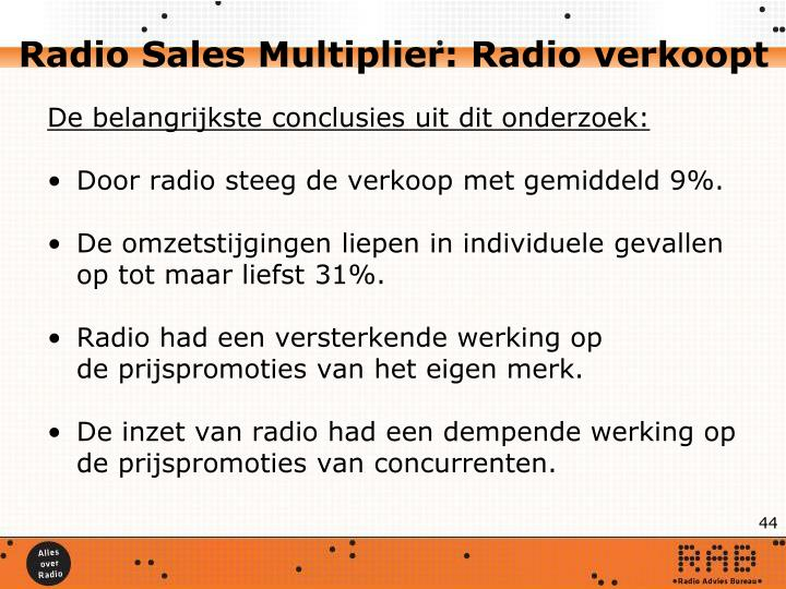 Radio Sales Multiplier: Radio verkoopt