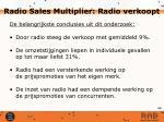 radio sales multiplier radio verkoopt