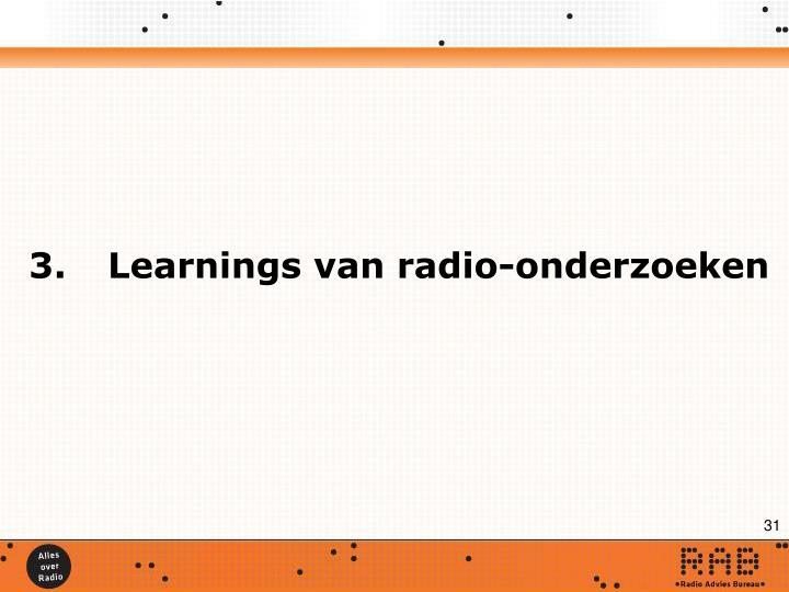 3.Learnings van radio-onderzoeken