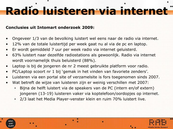 Radio luisteren via internet