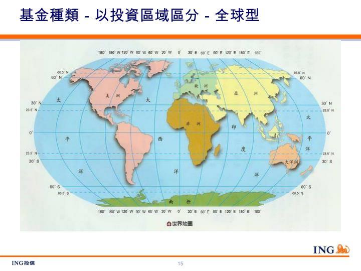 基金種類-以投資區域區分-全球型