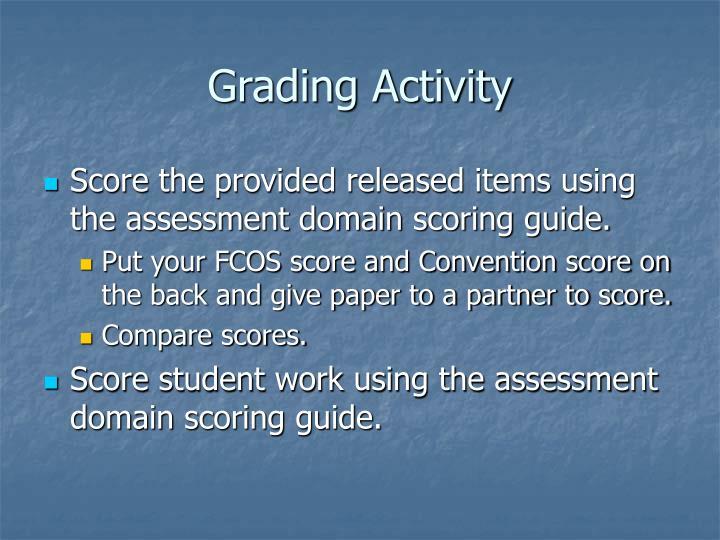 Grading Activity