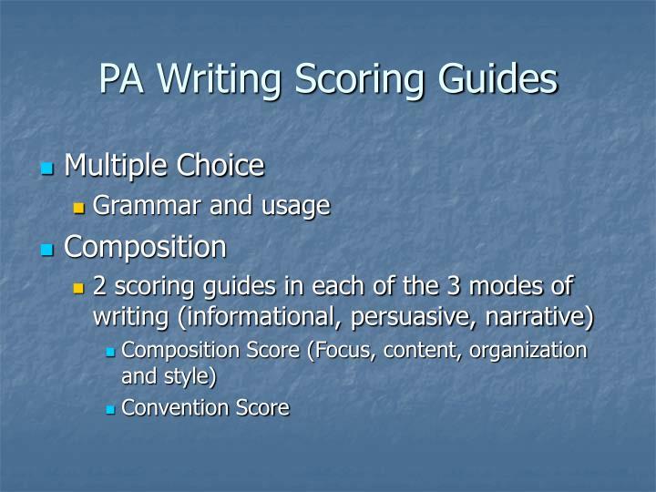 PA Writing Scoring Guides