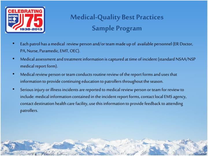 Medical-Quality Best Practices