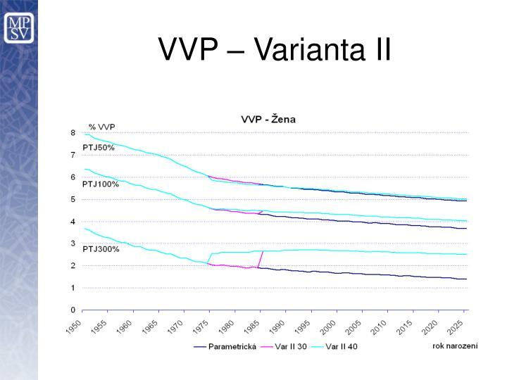 VVP – Varianta II