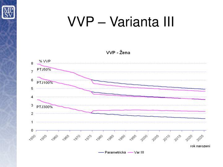 VVP – Varianta III