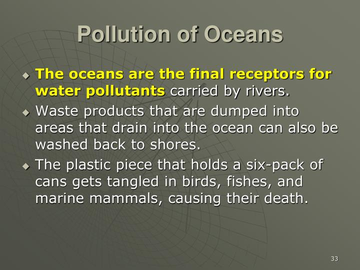 Pollution of Oceans