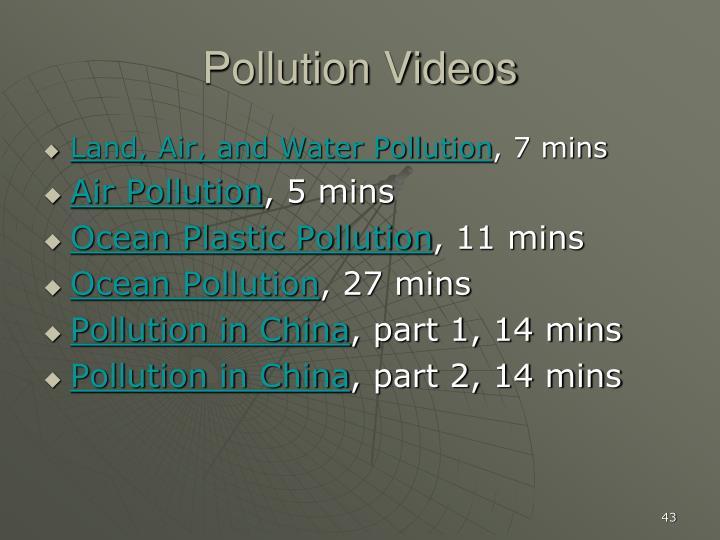Pollution Videos