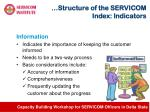 structure of the servicom index indicators3