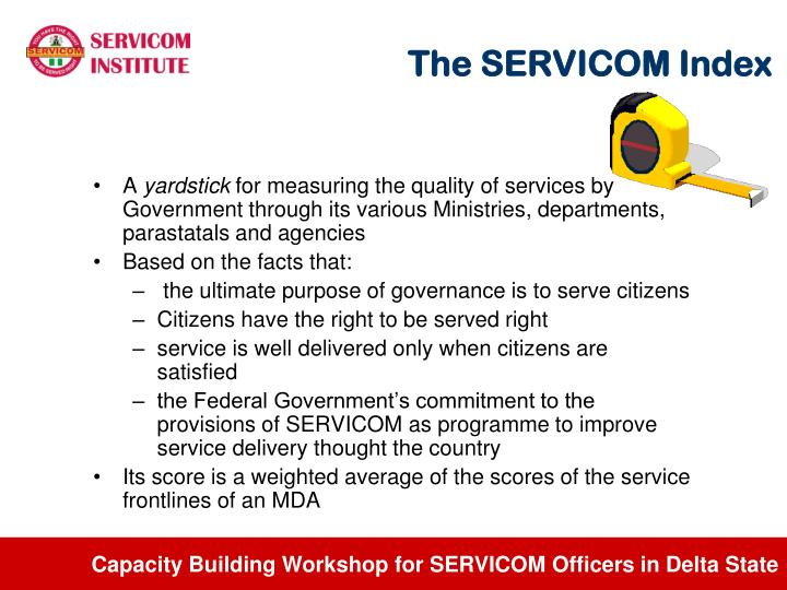 The SERVICOM Index