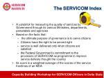 the servicom index