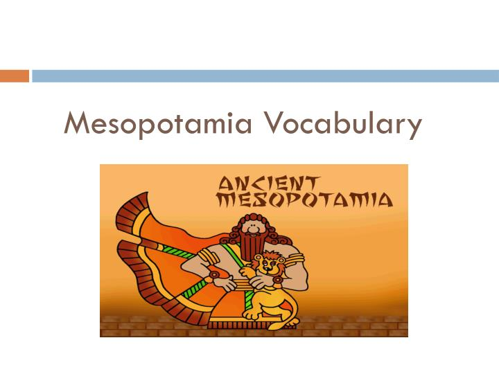 mesopotamia vocabulary