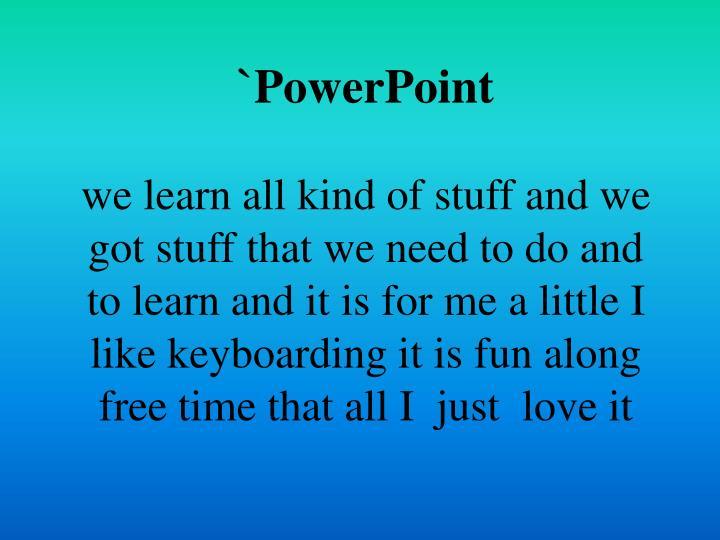 `PowerPoint
