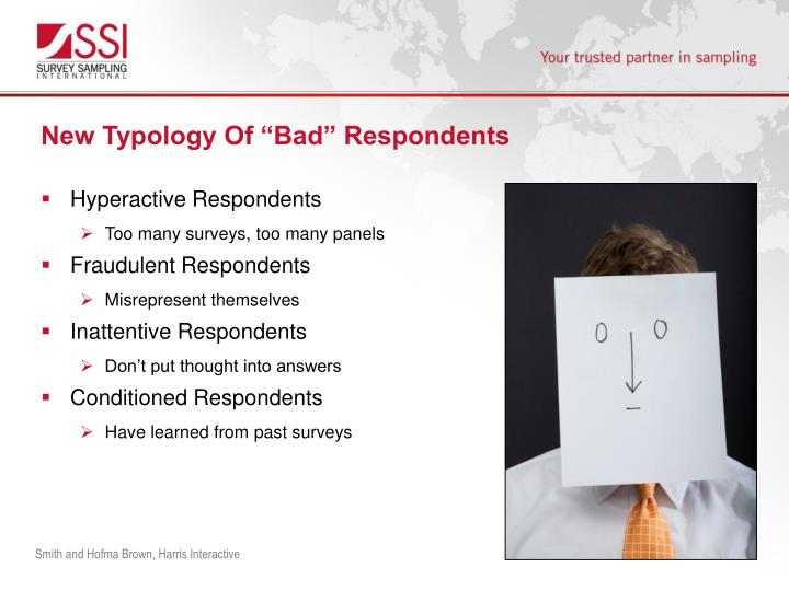 "New Typology Of ""Bad"" Respondents"