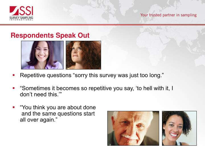 Respondents Speak Out