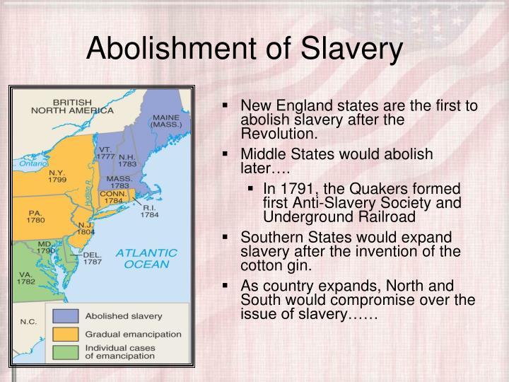 Abolishment of Slavery