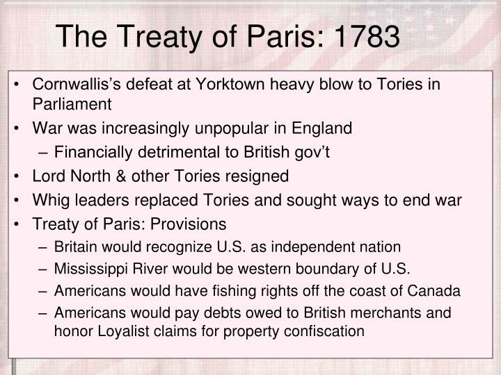 The Treaty of Paris: 1783