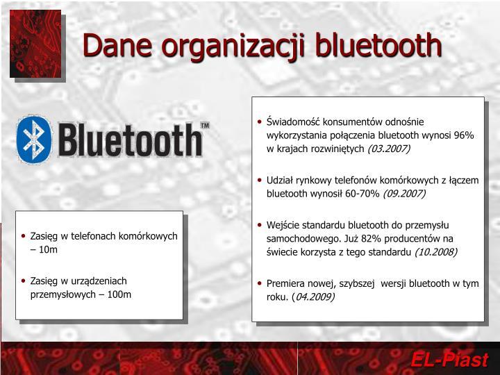 Dane organizacji bluetooth