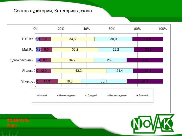 Состав аудитории, Категории дохода