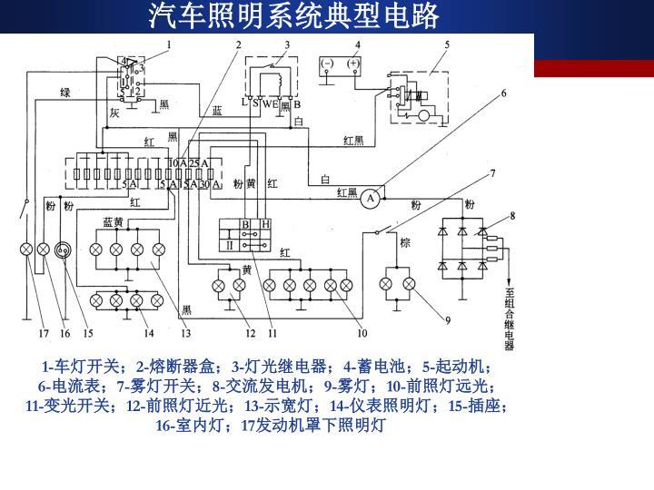 汽车照明系统典型电路