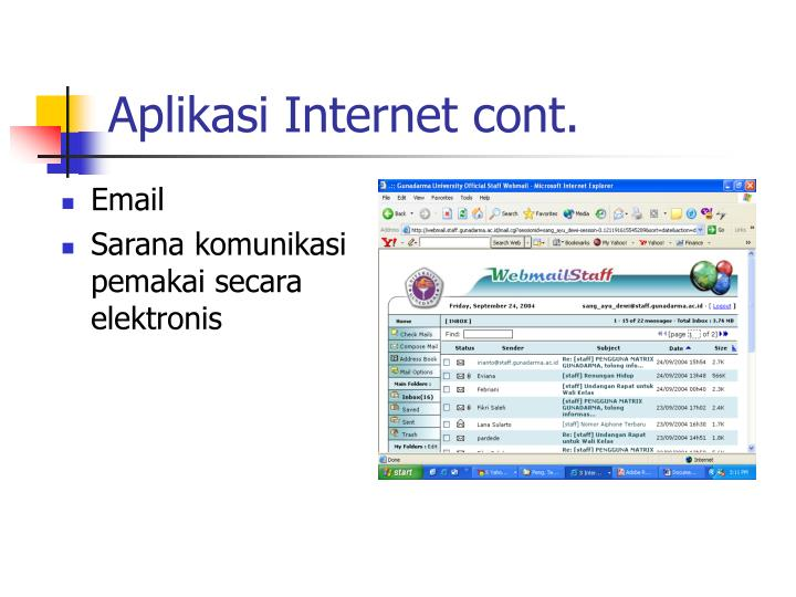 Aplikasi Internet cont.