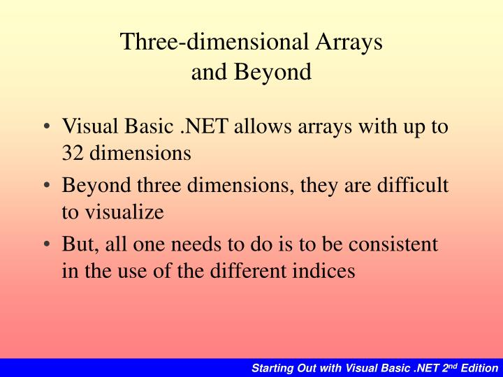Three-dimensional Arrays