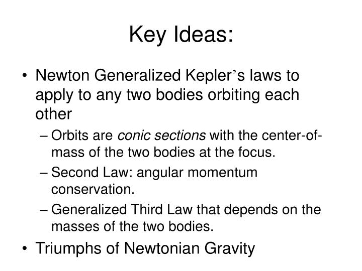 Key Ideas: