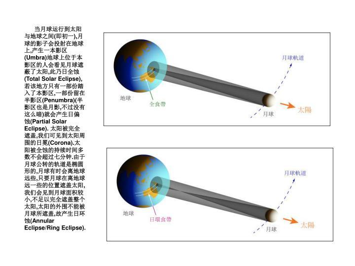 当月球运行到太阳与地球之间