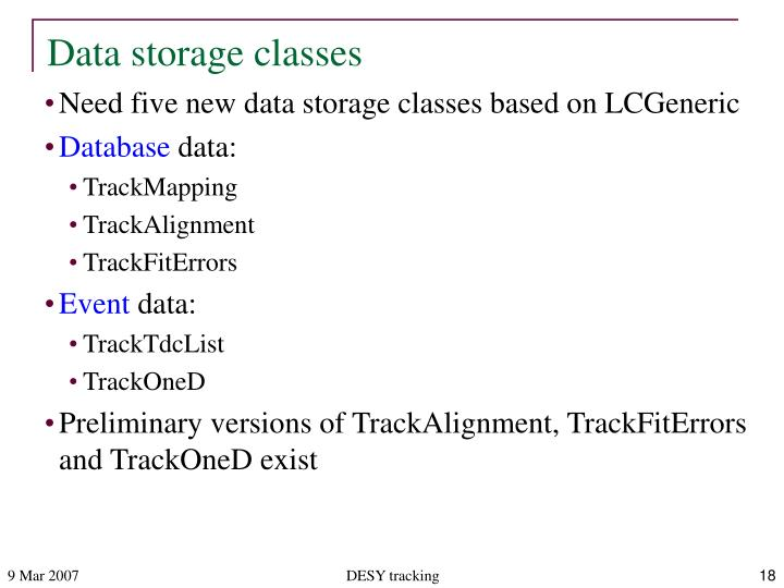Data storage classes