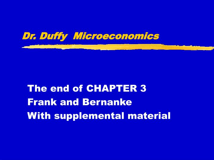 Dr duffy microeconomics