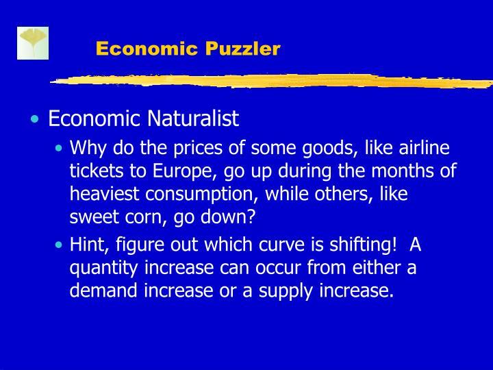 Economic Puzzler